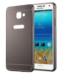 Samsung Galaxy A5 (2016) Acrylic Back Cover met Aluminium Bumper Zwart