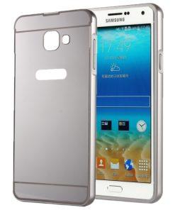 Samsung Galaxy A5 (2016) Acrylic Back Cover met Aluminium Bumper Zilverkleurig