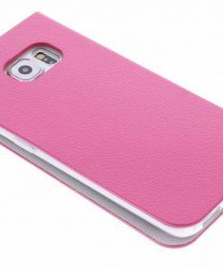 Anymode Booktype Samsung Galaxy S6 Edge - Roze