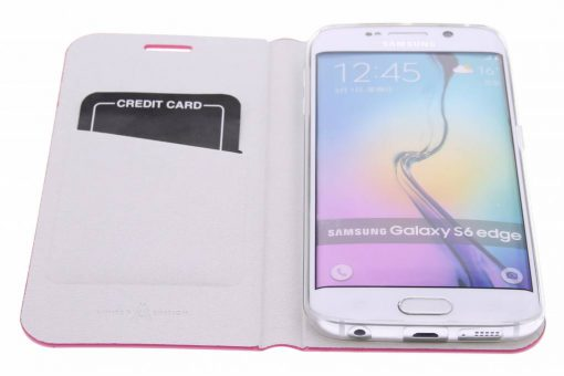 Anymode Booktype Samsung Galaxy S6 Edge - Roze