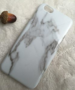 Apple iPhone 6 / 6S Plus Marmer TPU & Siliconen case Blauw-0