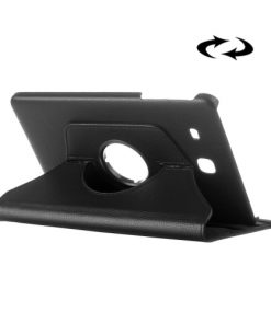 Samsung Galaxy Tab E 9.6 PU-Lederen 360 Cover Zwart