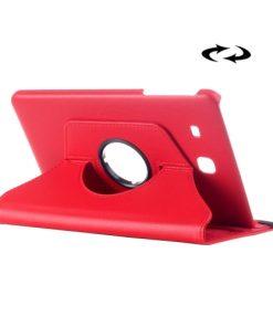 Samsung Galaxy Tab E 9.6 PU-Lederen 360 Cover Rood