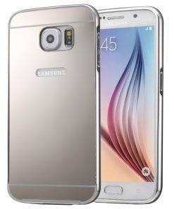 Samsung Galaxy S7 Acrylic Back Cover met Aluminium Bumper Zilverkleurig