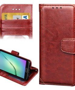 Samsung Galaxy A3 (2016) Wallet Hoesje Bruin