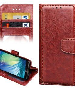 Samsung Galaxy A5 (2016) Wallet Hoesje Bruin