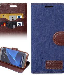 Samsung Galaxy S7 Edge Hoesje Jeans Style Blauw