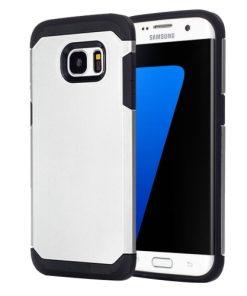 Samsung Galaxy S7 Edge Armor Hoesje Zilverkleurig