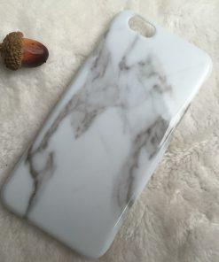 Apple iPhone 5 / 5S Marmer TPU & Siliconen case Zwart-0