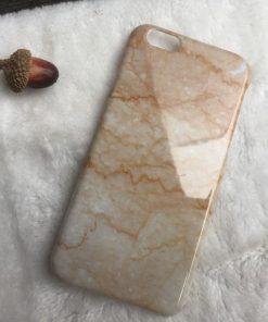 Apple iPhone 6 / 6S Marmer TPU & Siliconen case Bruin-0
