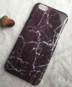 Apple iPhone 6 / 6S Marmer TPU & Siliconen case Zwart-0