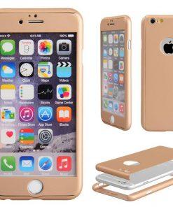 Apple iPhone 7 360 bescherming hardcase Goud-126415