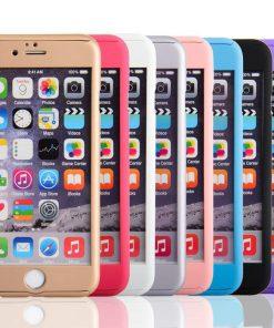 Apple iPhone 7 360 bescherming hardcase Roze-126443