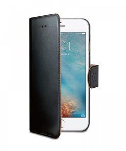 Celly Case Wally PU iPhone 7 Plus Zwart