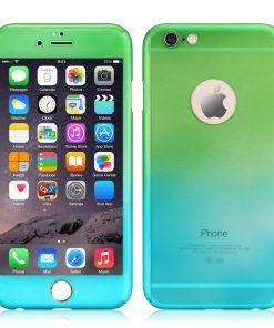 Apple iPhone 7 360 bescherming hardcase Groen Blauw