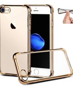 Apple iPhone 7+ Goud Transparante Shock Proof Flexibele Cover