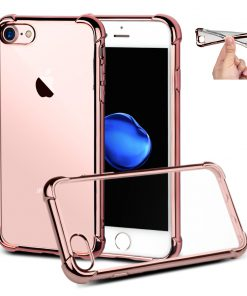 Apple iPhone 7 Rosé Goud Transparante Shock Proof Flexibele Cover