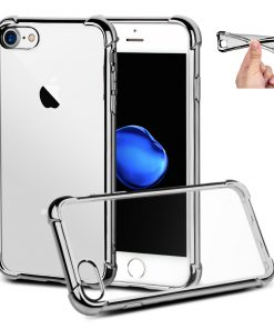 Apple iPhone 6+ Zilver Transparante Shock Proof Flexibele Cover