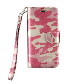 Legerprint Flipcase Apple iPhone 7 Metallic Roze