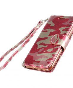 Legerprint Flipcase Apple iPhone 7 Plus Metallic Roze