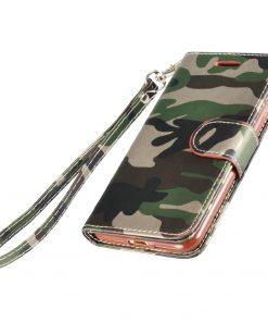 Legerprint Flipcase Apple iPhone 7 Plus Metallic Groen