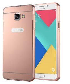 Samsung Galaxy A3 (2016) Acrylic Back Cover met Aluminium Bumper Rose Gold