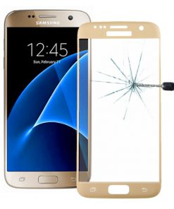 Full Screen Tempered Glass voor Samsung Galaxy S7 Goud