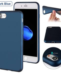 Luxe Metallic TPU Apple iPhone 7 Hoes Blauw