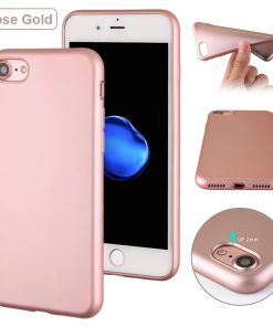 Luxe Metallic TPU Apple iPhone 7 Hoes Rose Goud