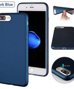 Luxe Metallic TPU Apple iPhone 7 Plus Hoes Blauw