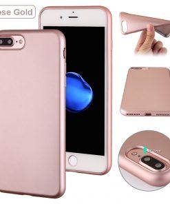 Luxe Metallic TPU Apple iPhone 7 Plus Hoes Rose Goud