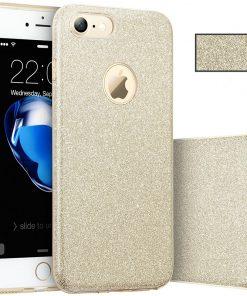 Apple iPhone 7 3 in 1 Glitter Hoesje Goud-0