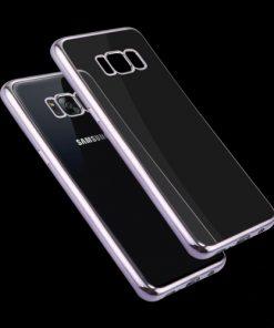 Samsung Galaxy S8 Transparant Bumper Hoesje Grijs