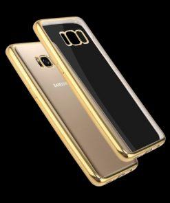 Samsung Galaxy S8 Transparant Bumper Hoesje Goudkleurig