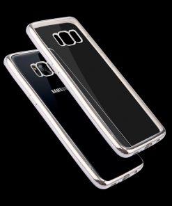 Samsung Galaxy S8 Transparant Bumper Hoesje Zilver 5
