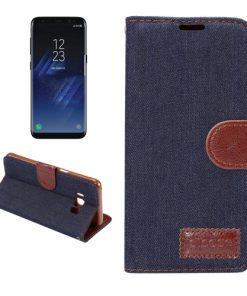 Samsung Galaxy S8 hoesje Jeans Style Donker Blauw