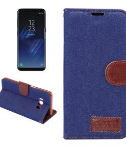 Samsung Galaxy S8 hoesje Jeans Style Blauw