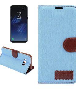 Samsung Galaxy S8 hoesje Jeans Style Licht Blauw