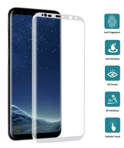 Full Screen Tempered Glass voor Samsung Galaxy S8 Zilver