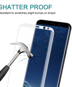 Full Screen Tempered Glass voor Samsung Galaxy S8 Wit