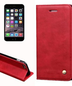 iPhone 7 Wallet Retro Hoesje Rood