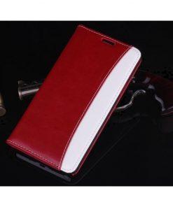 Samsung Galaxy Note 4 Flip Case Bruin Rood