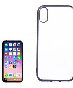 iPhone X Transparant Bumper Hoesje Zwart