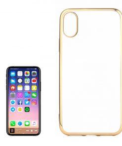 iPhone X Transparant Bumper Hoesje Gold