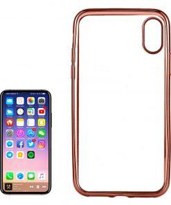 iPhone X Transparant Bumper Hoesje Rose Gold