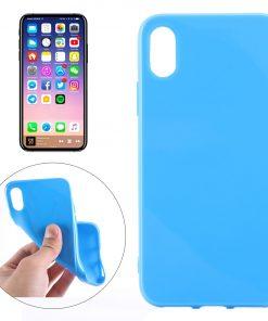 iPhone X TPU Hoesje donkerblauw