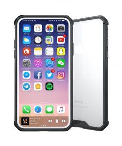 iPhone X Transparant Shock Proof Hoesje Zwart