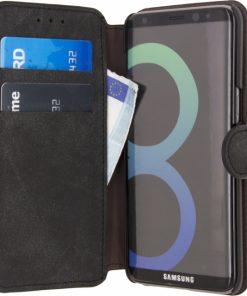 Xccess Wallet Book Stand Case Samsung Galaxy S8 Vintage Grey-0
