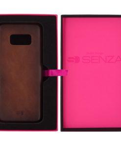 Senza Desire Leather Cover Samsung Galaxy S8 Burned Cognac-0