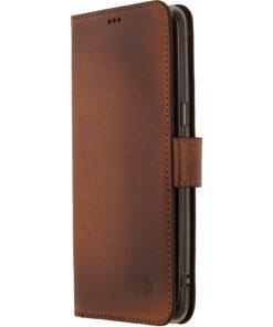 Senza Desire Leather Wallet Samsung Galaxy S8 Burned Cognac-0